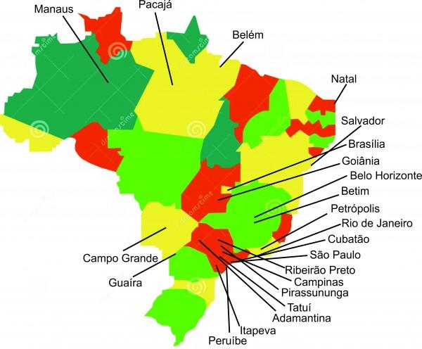 Mapa dos alunos 600x496 Albatroz Brasil Drones, referência na capacitação de pilotos de drones, lança novo curso