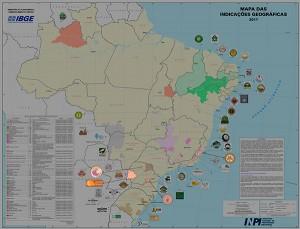 mapa indic relea 300x229 IBGE representa em mapas regiões geográficas de produtos e serviços certificados