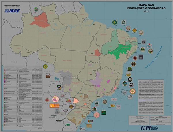 Visão geral do Mapa das Indicações Geográficas