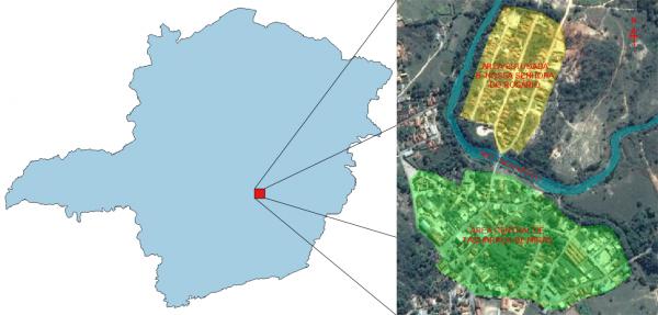 Figura 3.2‑1 – Localização da área estudada FONTE: Adaptado pelos autores, 2017