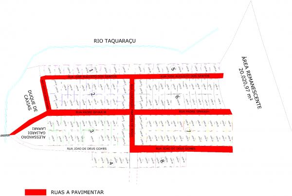 Figura 3.2‑1 – Planta topográfica FONTE: Adaptado pelos autores, 2017