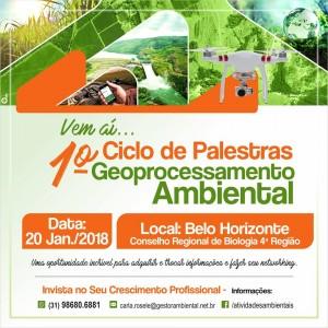 Post 1 300x300 Evento sobre Geoprocessamento direcionado à área Ambiental ocorrerá em BH