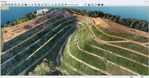 ortomosaico com o modelo de terreno Módulo LiDAR v.19 do Global Mapper permite criação de nuvem de pontos fotogramétricos
