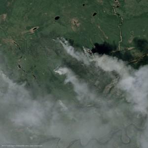 Imagem de satelite SPOT 6 7 Incendio de Fort McMurray em Alberta Canada 300x300 Airbus oferece acesso a suas imagens de satélite em tempo quase real