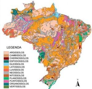 mapa pronasolos 300x292 Embrapa lidera maior programa de investigação do solo brasileiro