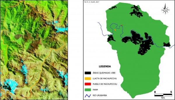 Imagem 102 600x342 Imagens de Satélite no mapeamento de queimadas próximas a Machupicchu