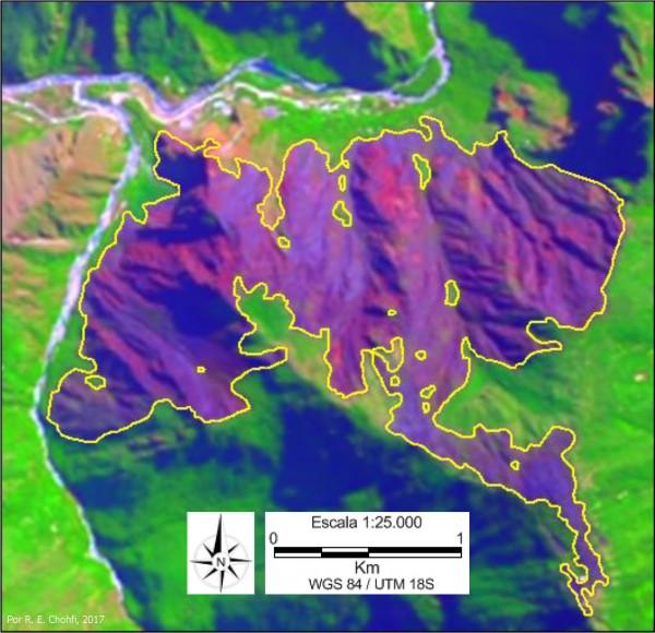 Imagem 104 600x580 Imagens de Satélite no mapeamento de queimadas próximas a Machupicchu
