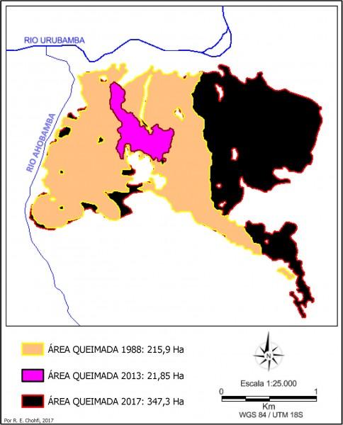 Imagem 108 484x600 Imagens de Satélite no mapeamento de queimadas próximas a Machupicchu