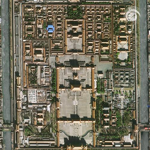 Fig101 Cidade Proibida Pequim China Space View libera primeiras imagens dos satélites Superview 1 3 e 4