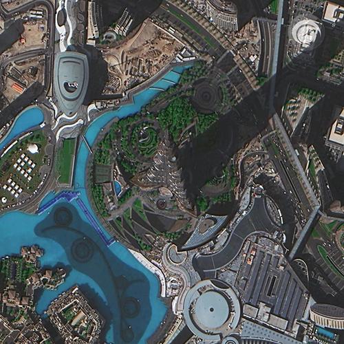Fig103 Burj Dubai Space View libera primeiras imagens dos satélites Superview 1 3 e 4