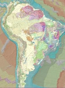 mapa geologico em sig 224x300 América do Sul ganha Mapa Tectônico em ambiente SIG