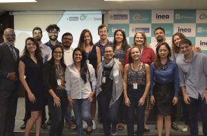 equipe lançamento inea 300x198 Inea lança base de dados geoespaciais do Estado do Rio de Janeiro