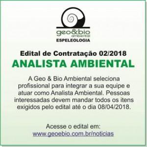 vaga analista ambiental 300x300 Geo & Bio Ambiental abre processo seletivo para Analista Ambiental