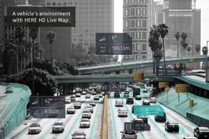 como um veiculo autonome enxerga um ambiente urbano 300x200 Provedores de dados definem padrão global para mapas de alta definição