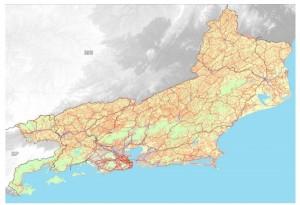 nova base cartografica vetorial do rio de janeiro 300x205 IBGE lança versão 2018 da base cartográfica do Rio de Janeiro