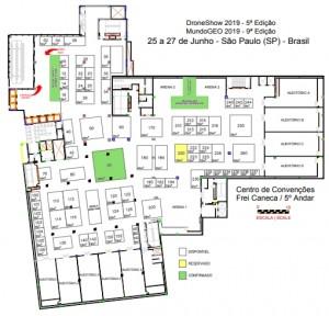planta do mundogeoconnect 2019 300x288 Reservas de espaços na feira MundoGEO#Connect 2019 já está disponível