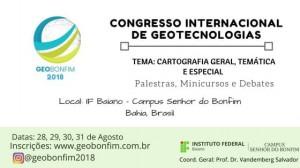OUTDOOR GEOBONFIM 2018 300x168 Congresso Internacional discute Geotecnologias em Senhor do Bonfim