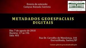 curso de metadados geoespaciais 300x168 Unifesp realiza evento sobre Metadados Geoespaciais Digitais