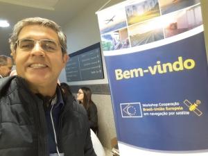 emerson granemann no workshop sobre galileo e copernicus Em pauta: cooperação Brasil Europa em GNSS e Observação da Terra