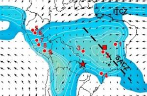 mapa de lluvias en brasil 300x196 Un estudio muestra en mapas la historia de las lluvias en Brasil