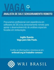 vaga para Analista Júnior em SIG e Sensoriamento Remoto 230x300 WRI Brasil busca Analista Júnior em SIG e Sensoriamento Remoto