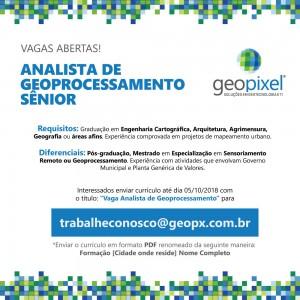 Post VagasGeopixel 300x300 Geopixel anuncia vaga para Analista de Geoprocessamento Sênior