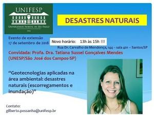 evento desastres naturais 300x225 Unifesp realiza evento sobre Geotecnologia na área de desastres naturais