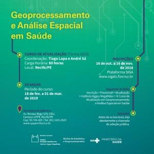 GEO E ANALISE ESPACIAL NA SAUDE 300x300 Inscrições abertas para Curso de Geo e Análise Espacial em Saúde