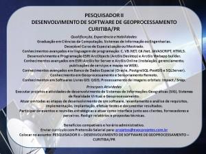 Vaga EVOC Pesq.II Software Geoprocessamento 300x225 Empresa busca desenvolvedor de software para Geoprocessamento