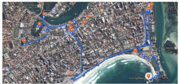 opcao de roteiro 600x281 Artigo: Geovisualização e geocolaboração do patrimônio histórico de Cabo Frio RJ