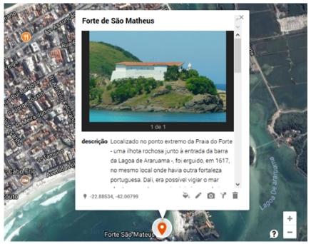 tela em detalhe Artigo: Geovisualização e geocolaboração do patrimônio histórico de Cabo Frio RJ
