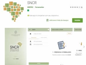 app sncr 300x225 Novo aplicativo para Android e IOS disponibiliza CCIR a proprietários rurais