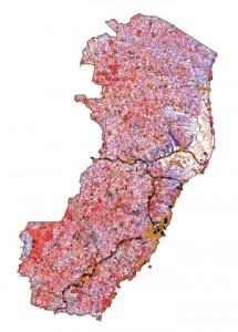 base cartografica do espirito santo 215x300 Após 10 anos, IBGE lança nova versão do Mapa Físico do Brasil