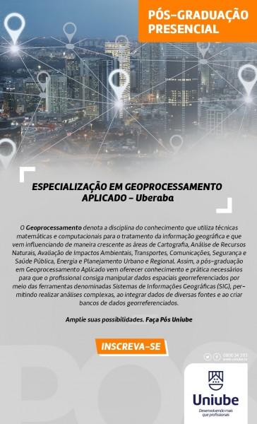 Pós em Geoprocessamento Aplicado 364x600 Universidade de Uberaba abre inscrição para pós em Geoprocessamento