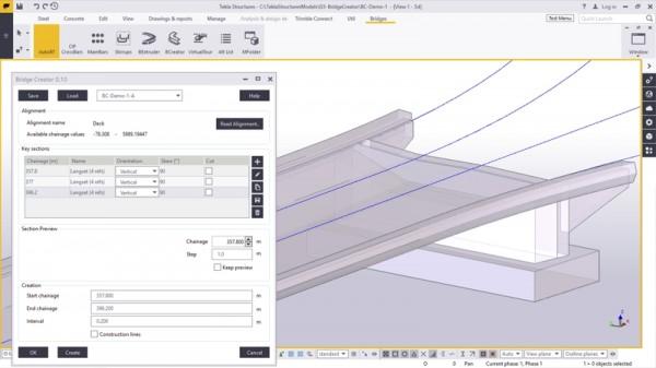 Tekla Bridge Creator 600x337 Trimble anuncia lançamento do Tekla Bridge Creator