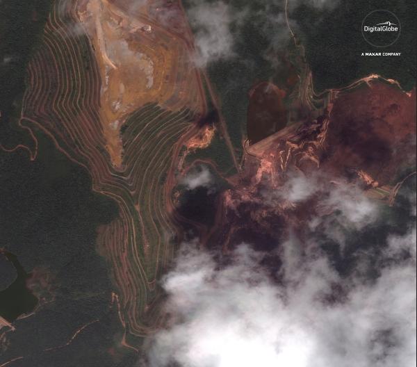 image digitalglobe de brumadinho Geotecnologias na resposta ao desastre de Brumadinho
