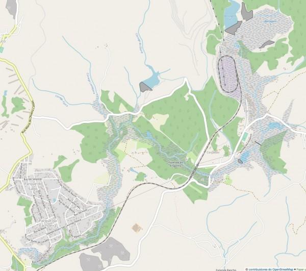 mapa do osm de brumadinho 600x531 Geotecnologias na resposta ao desastre de Brumadinho