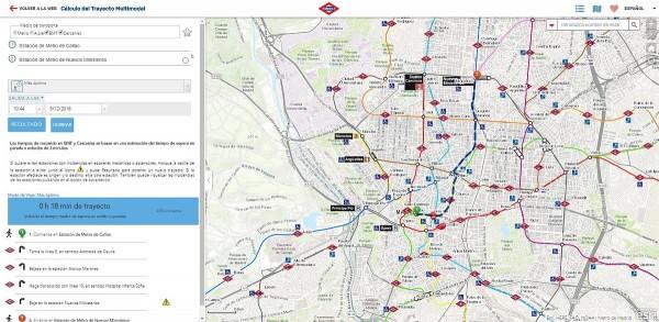 App Calculo del Trayecto Multimodal Metro y Esri 600x293 Periódico lanza una app para calcular las mejores rutas