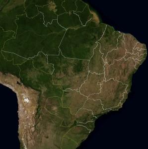 Brasil do espaço 298x300 IBGE atualiza nomes de municípios em bases geográfica e estatística