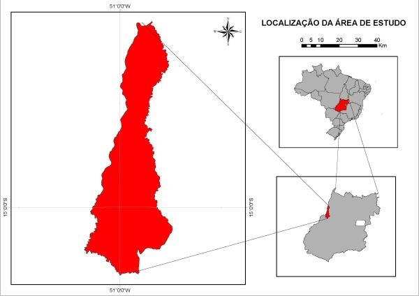 Figura 2 Município de Aruanã Artigo: Análise Temporal das Áreas Úmidas no Município de Aruanã