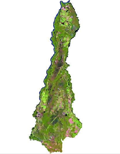 Figura 4 – Mosaico do município de Aruanã Artigo: Análise Temporal das Áreas Úmidas no Município de Aruanã