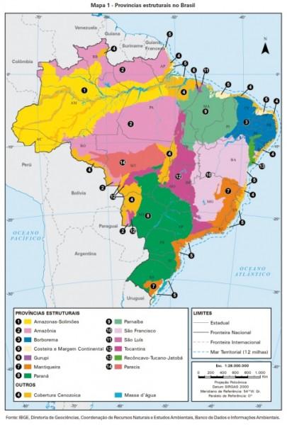 macrocaracterização dos recursos naturais do Brasil 405x600 IBGE lança macrocaracterização dos recursos naturais do Brasil