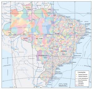 release mapa municipios 300x292 IBGE divulga quadro geográfico de referência para estatísticas